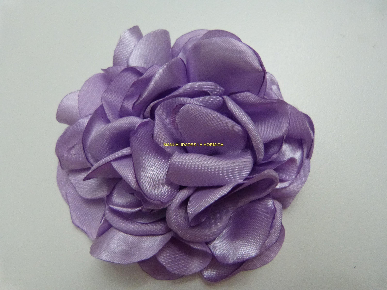Tutorial moño  grande de rosas para el cabello en tela satin paso a paso