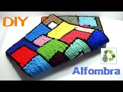112. DIY ALFOMBRA MULTICOLOR (RECICLAJE DE TELA)