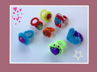 ANILLOS HECHOS CON LIMPIA PIPAS.- RINGS WITH PIPE CLEANERS .