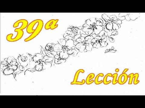 APRENDE A DIBUJAR! 39 ª Lección - Flor de almendro.Let's learn to draw! leccion 39