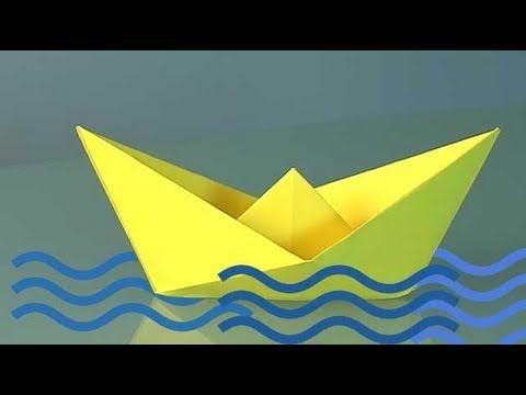 Aprende a hacer un barco de papel. Origami
