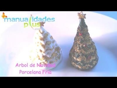 Arbol Navidad para Escritorio Porcelana Fría (fácil)