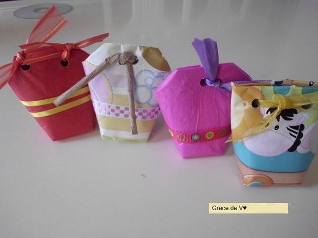 Bolsita de regalo reciclada (recycled gift bag)