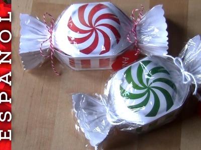 Cajitas regalo peppermint Candy (descarga plantillas)