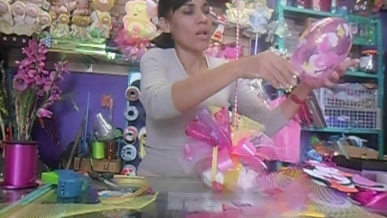 CENTRO DE MESA BABY SHOWER. MANUALIDADES DE VERO