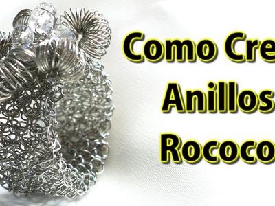 Como Crear Anillos de Malla Tubular con Rococo en Punto Peruano