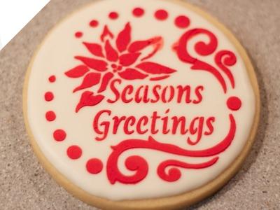 Cómo decorar Galletas Navideñas con glasa y estarcido | Decoración de galletas por Azúcar con Amor