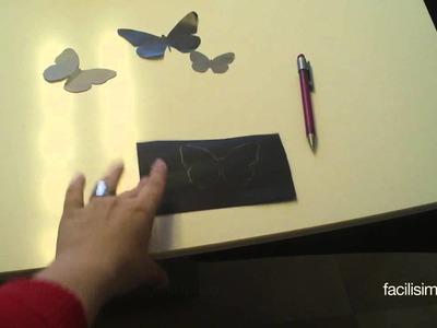 Cómo decorar la pared con mariposas | facilisimo.com