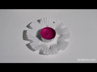 Cómo hacer flores para velas o copos de nieve | facilisimo.com