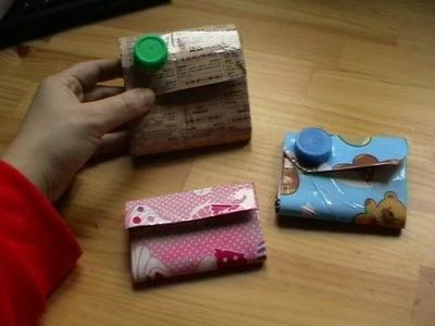 Cómo hacer un monedero de tetra brick
