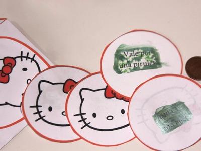 Cómo hacer un rasca y gana de Hello kitty