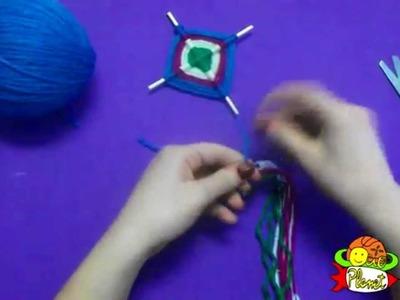 Cómo hacer una cometa con lana  decorativa