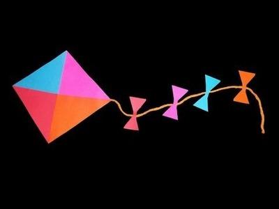 Cómo hacer una cometa decorativa de papel