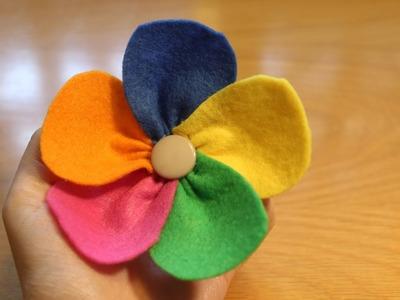 Cómo hacer una flor de colores con fieltro | facilisimo.com