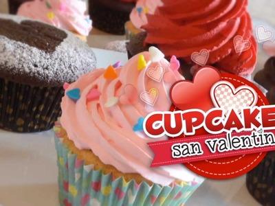 Cupcakes San Valentin (Receta de Ganache)