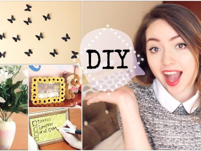 DECORA TU CUARTO! ❀ DIY (4 Ideas Fáciles & Creativas)