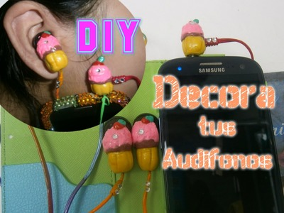 Decora tus audifonos, DIY Porcelana fria, Pasta Moldeable, FÁCIL  Esmaltes.Decorate your headphones