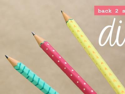 Decora tus lápices: rápido, fácil y lindo  #Back2School