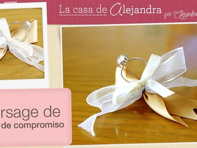 Despedida de Soltera: Corsage de anillo - DIY Engagement ring corsage