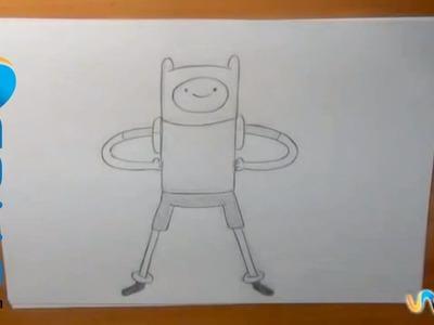 Dibujar a Finn (Hora de Aventura)