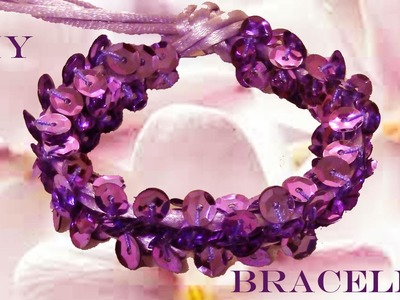 DIY beautiful bracelets bright purple - pulseras hermosas brillantes purpuras
