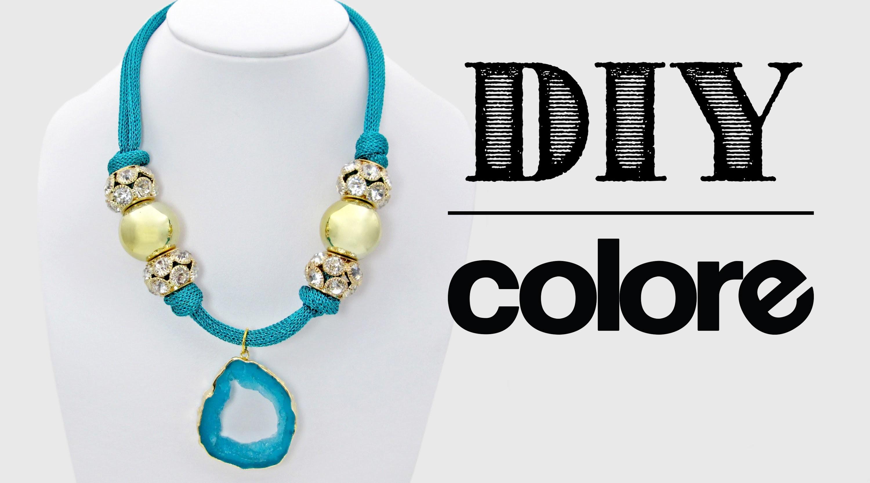 DIY: Collar Malla y Dije Imitación Piedra - Colore Accesorios