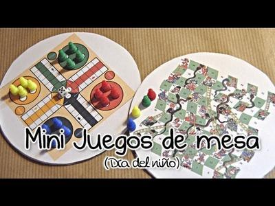 DIY. HTM: Minijuegos de mesa para niños [DIA DEL NIÑO]