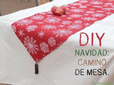 #DIY Navidad: Decorar tu casa con este camino de mesa.