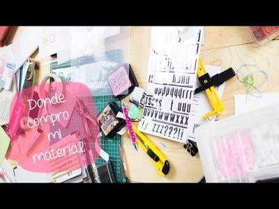 Dónde compro material para manualidades.scrapbook + Haul. BigCrafts