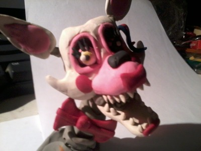 Escultura de Mangle. five nights at freddy´s 2.sculpture mangle. en plastilina