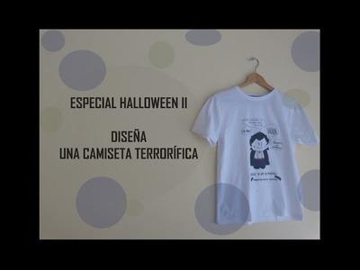 Especial #Halloween II: decora tus camisetas con #rotuladores textiles (Manualidad fácil para niños)