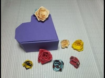 Flores de papel para adornar.