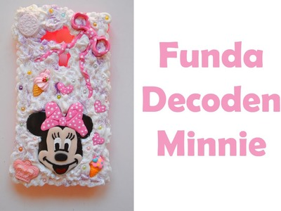 Funda móvil con decoden de Minnie