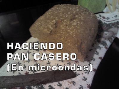Haciendo pan casero en microondas