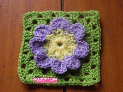 Haciendo una flor de 8 pétalos parte 2