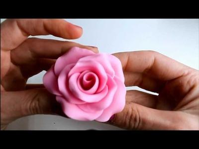 Ideas para el Día de la Madre: Rosa de fondant