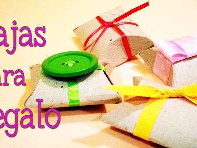 Manualidades de reciclaje - Cómo hacer cajas para regalos