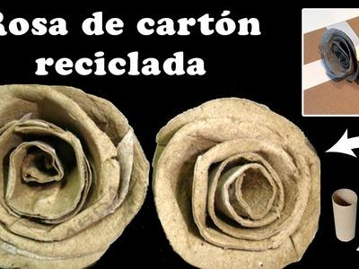 Manualidades: Rosa de cartón reciclada