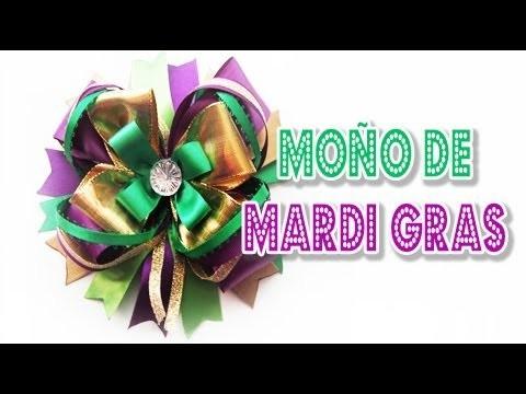 Moño para el Carnaval de Mardi Gras