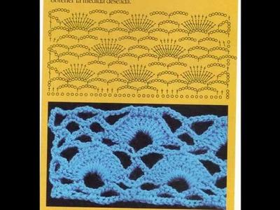 Muestras Puntos fantasía a crochet