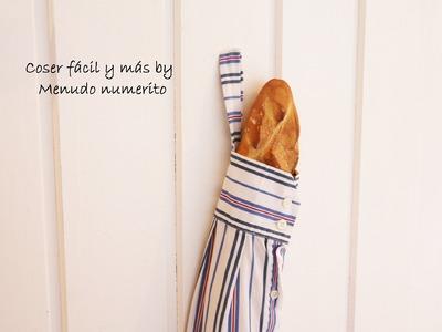 Reciclar camisas: bolsa para el pan