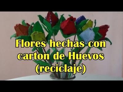 ROSAS DE CARTON DE HUEVO ** EGG CARTON ROSES-Manualidades