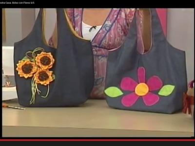 Sonia Franco. Programa Nuestra Casa. Bolso con Flores 5.5