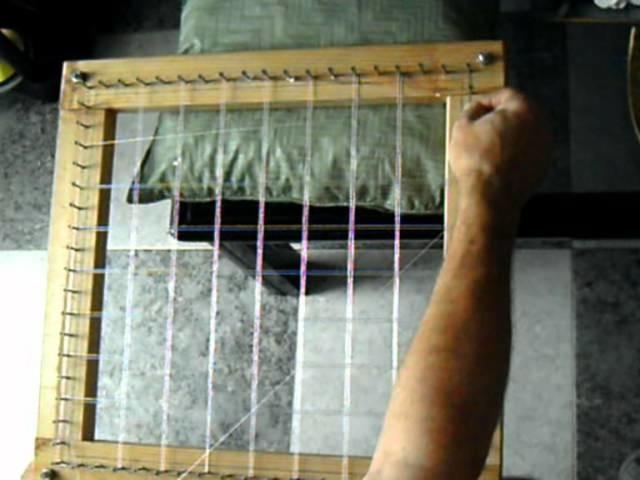 Tapete de hilo de seda (1.6), Forma de tirar hilos
