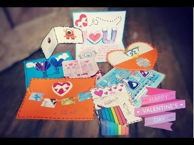 Tarjetas scrap ♥  fáciles y bonitas para regalar ♥ 8 ideas ♥