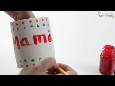 Tazas pintadas para el Día de la Madre