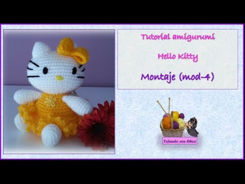 Tutorial amigurumi Hello Kitty - Montaje (mod-4)