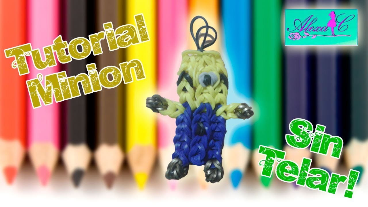 ♥ Tutorial: Minion de gomitas (sin telar) ♥