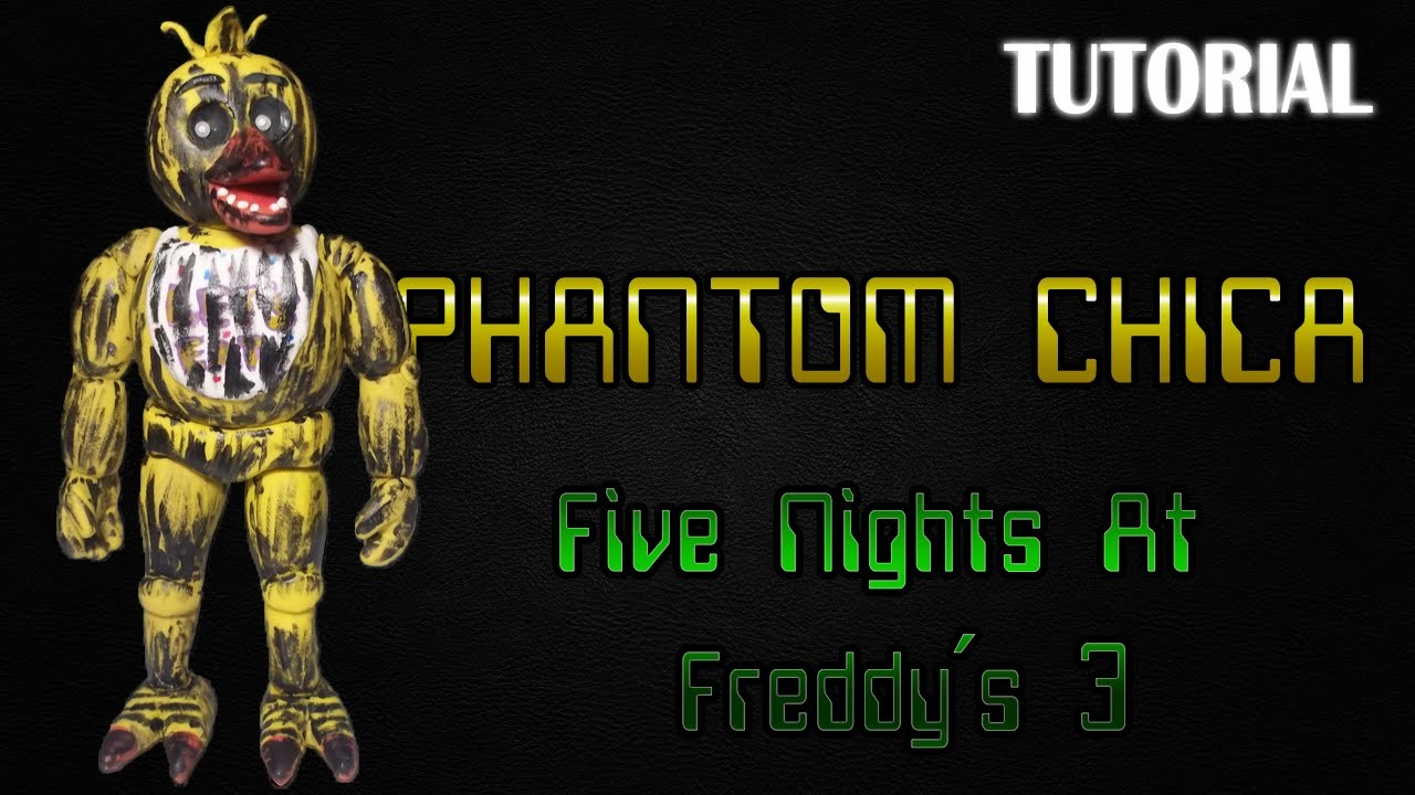 Tutorial Phantom Chica en Plastilina | FNaF 3 | Phantom Chica Clay Tutorial