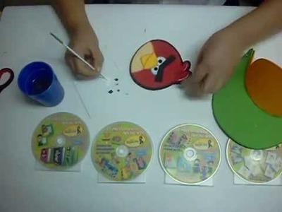 Visera Angry Birds en Foami, Goma Eva, Microporoso (2da Parte)